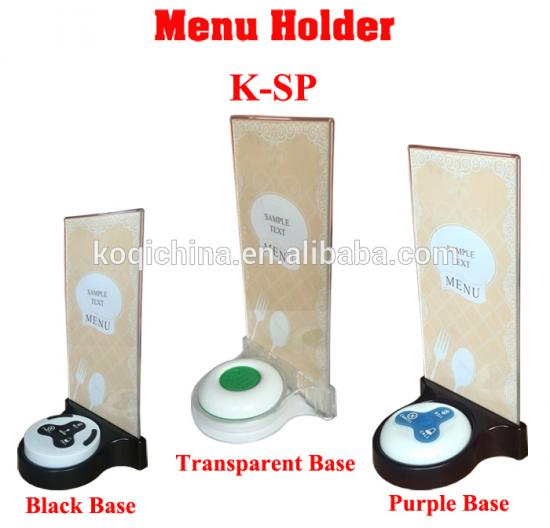 table stand menu holder