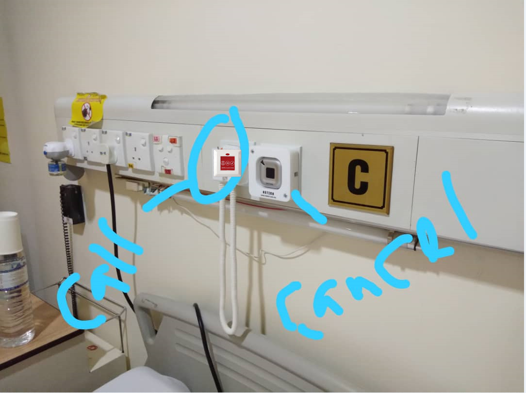 how to use Ycall call button in the hospital ward?
